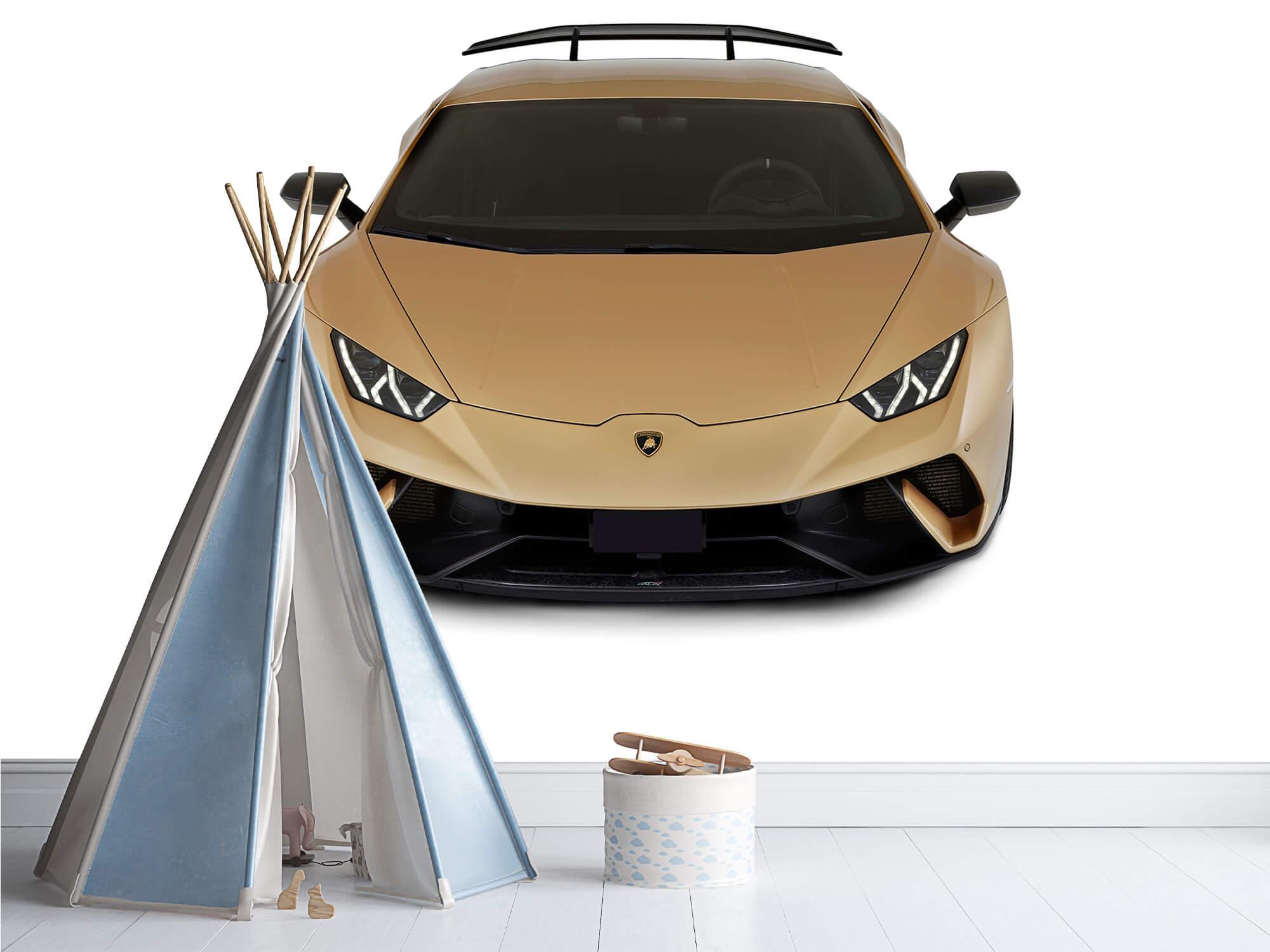 Wallpaper Lamborghini Huracán - Voorkant vanaf boven, wit 5