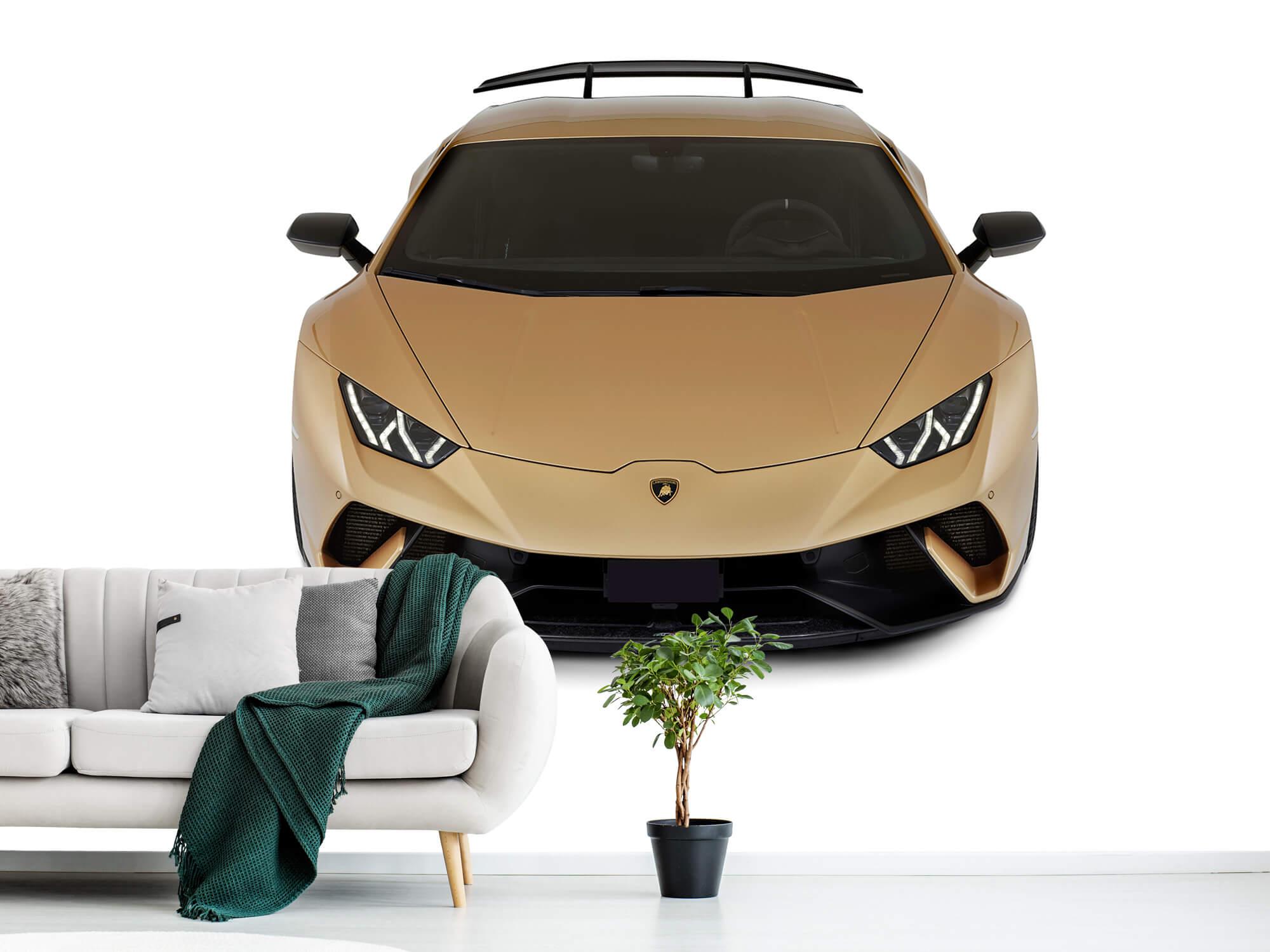 Wallpaper Lamborghini Huracán - Voorkant vanaf boven, wit 1