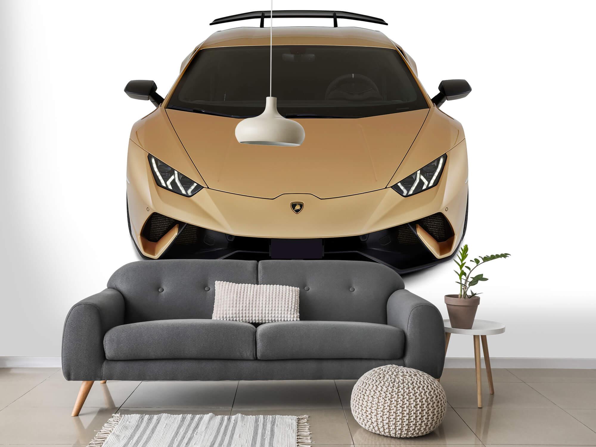 Wallpaper Lamborghini Huracán - Voorkant vanaf boven, wit 14