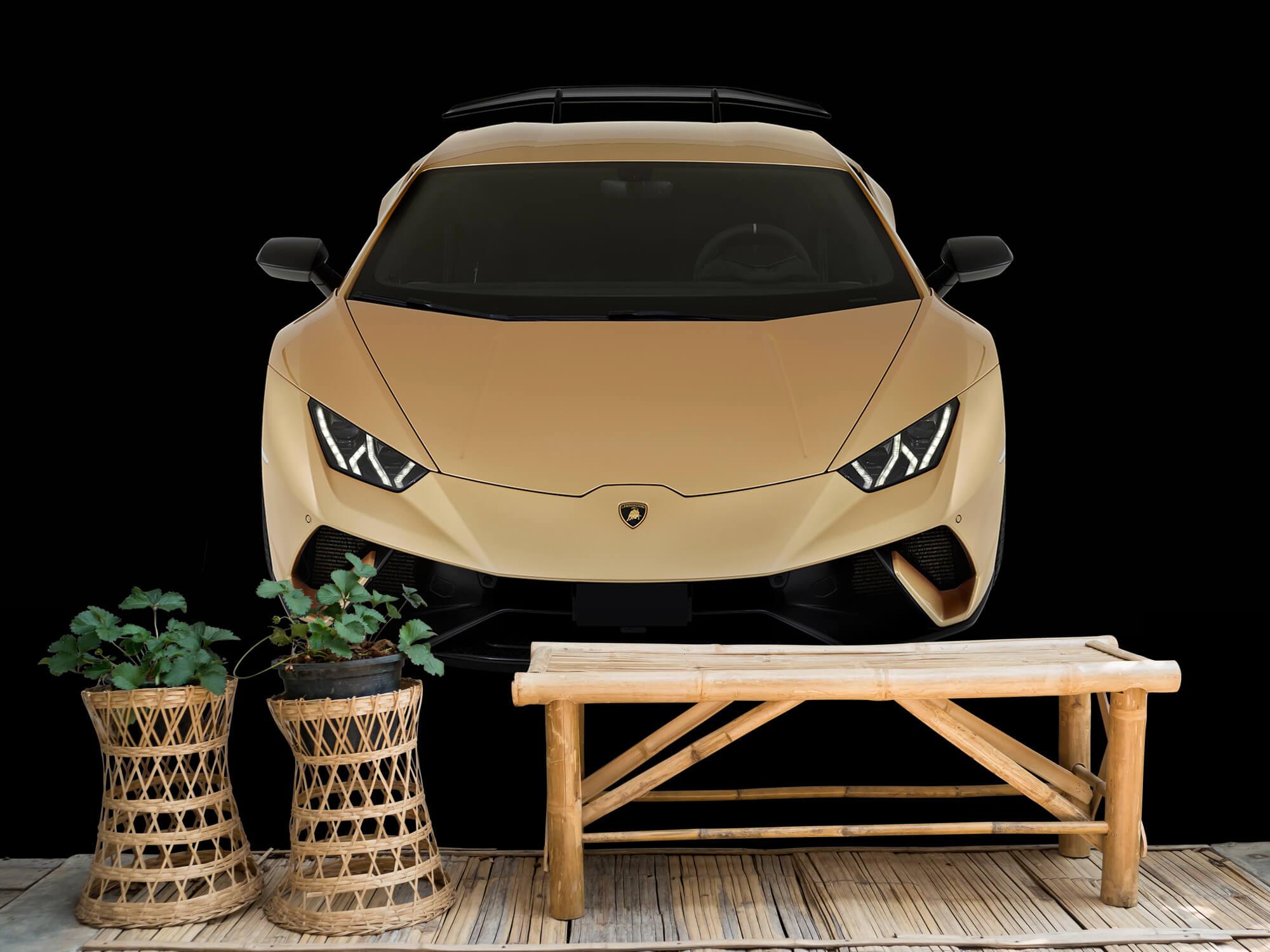Wallpaper Lamborghini Huracán - Voorkant vanaf boven, zwart 2