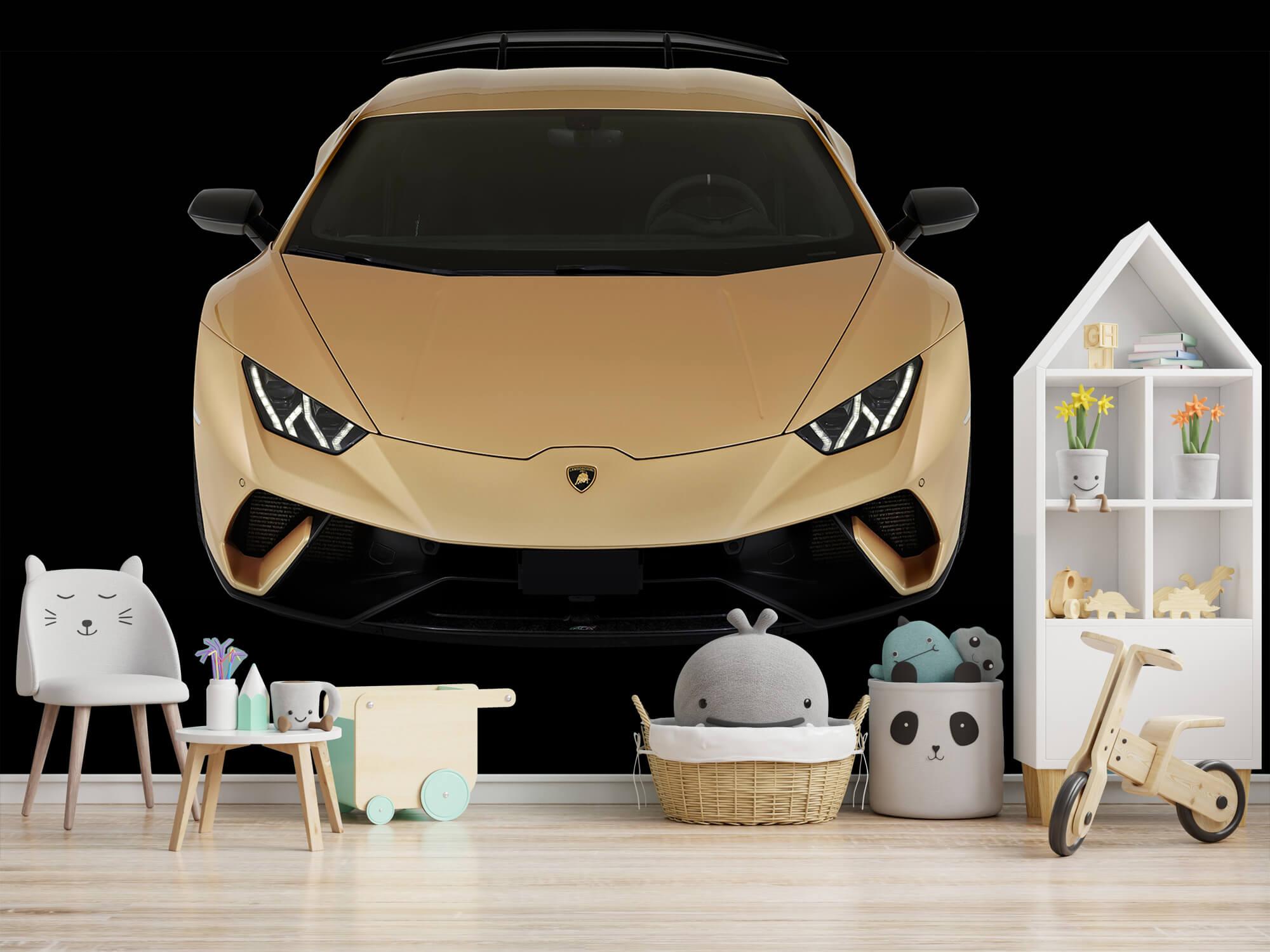 Wallpaper Lamborghini Huracán - Voorkant vanaf boven, zwart 4