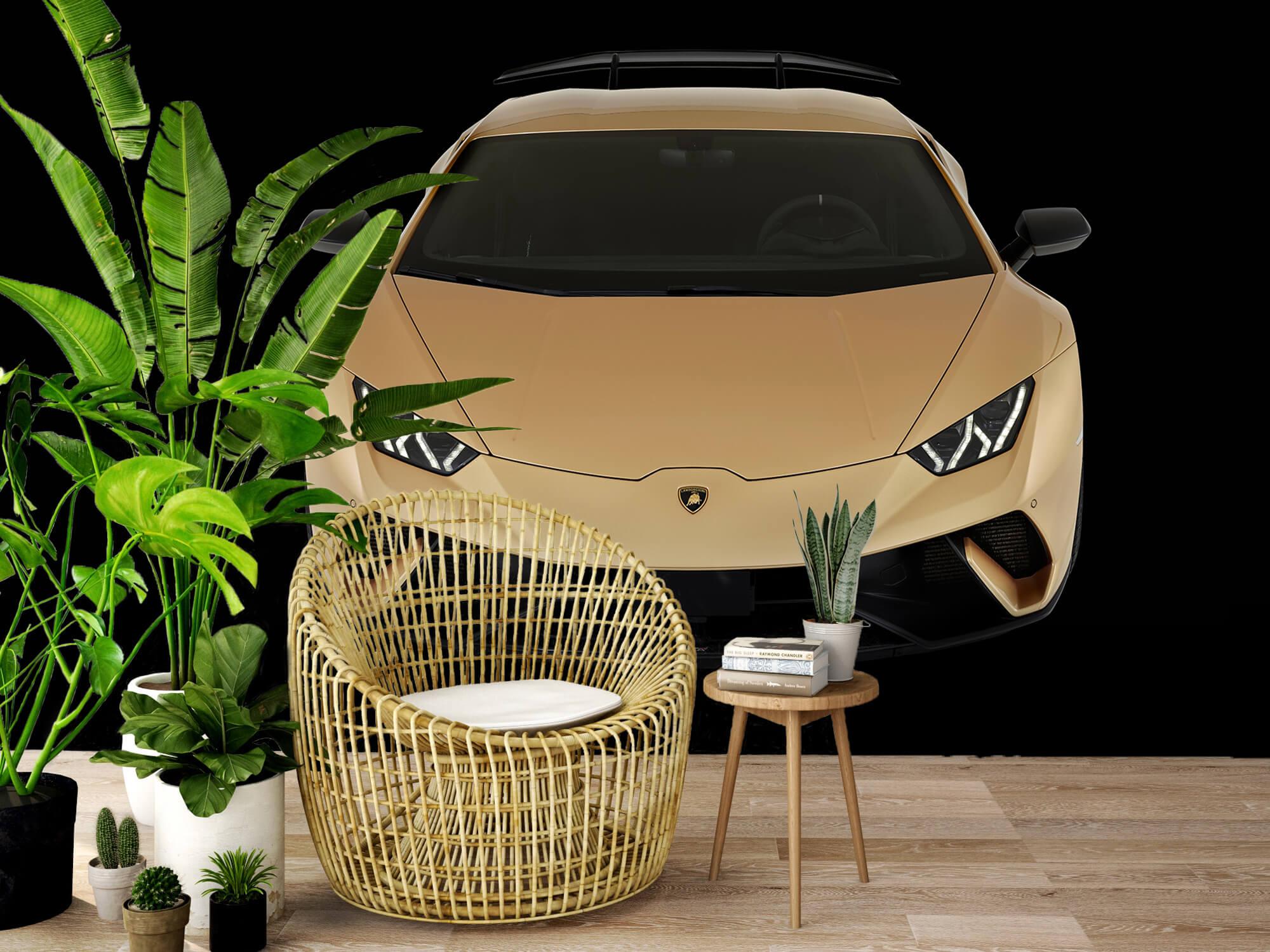 Wallpaper Lamborghini Huracán - Voorkant vanaf boven, zwart 5
