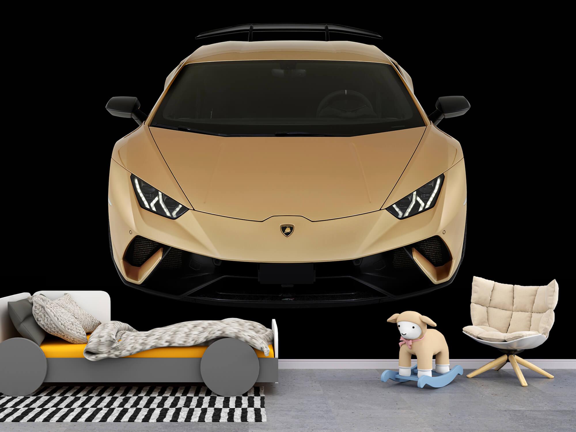 Wallpaper Lamborghini Huracán - Voorkant vanaf boven, zwart 6