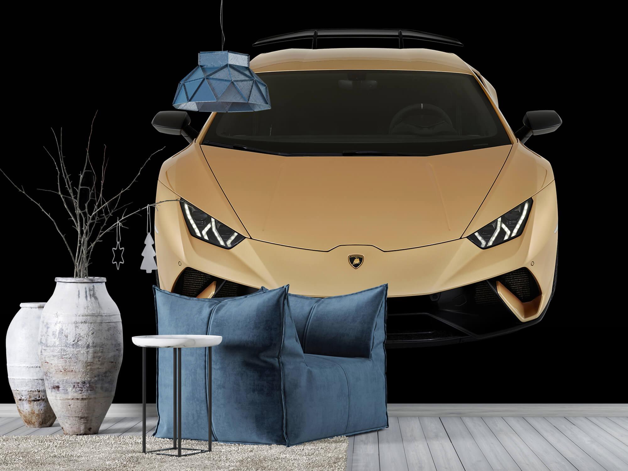 Wallpaper Lamborghini Huracán - Voorkant vanaf boven, zwart 7
