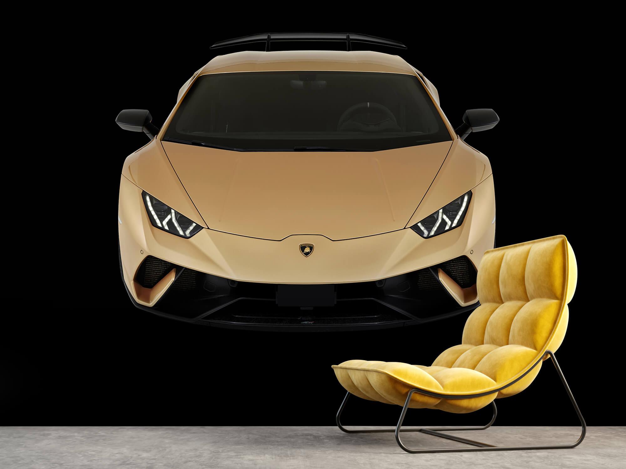 Wallpaper Lamborghini Huracán - Voorkant vanaf boven, zwart 8