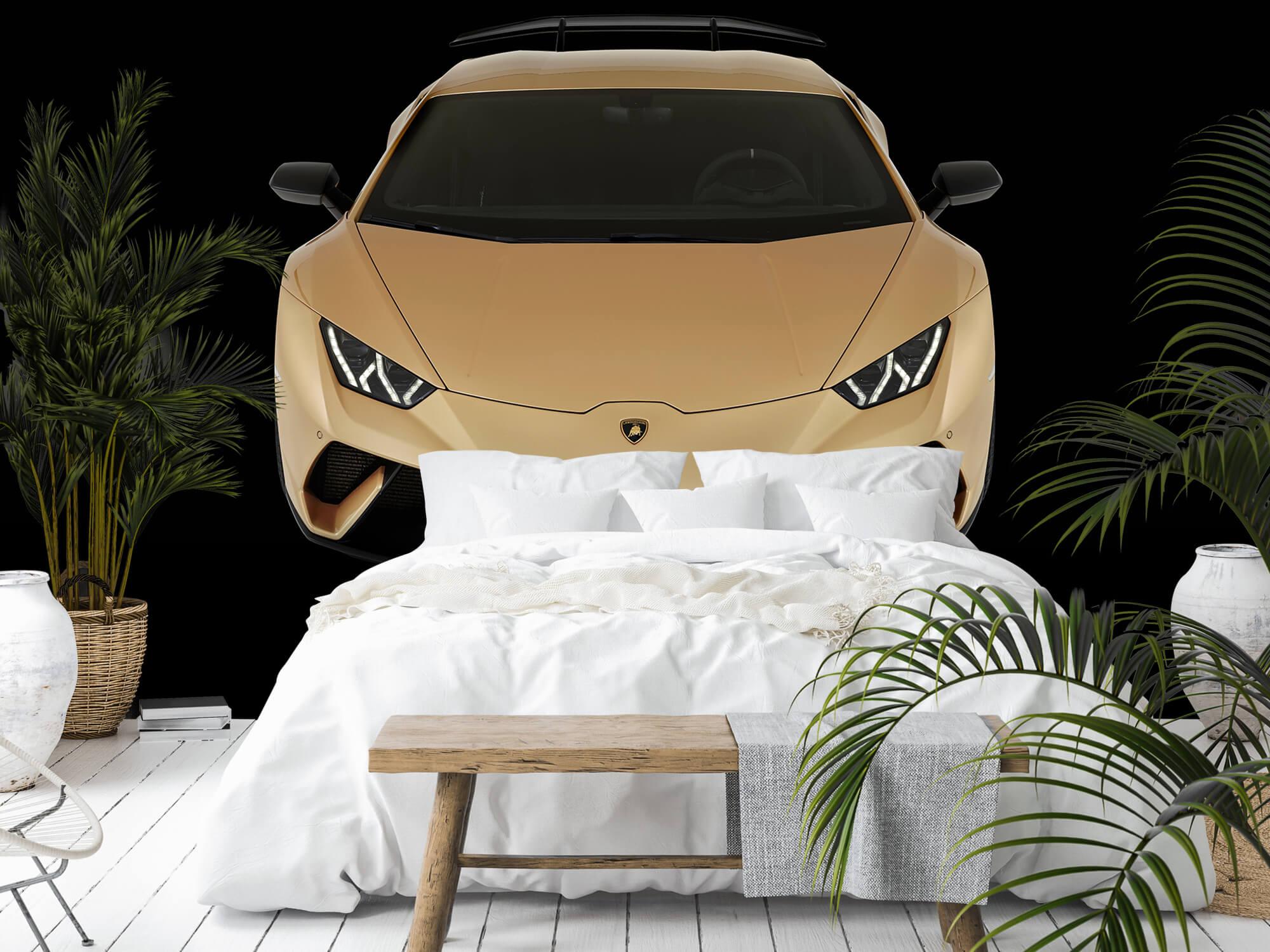 Wallpaper Lamborghini Huracán - Voorkant vanaf boven, zwart 9
