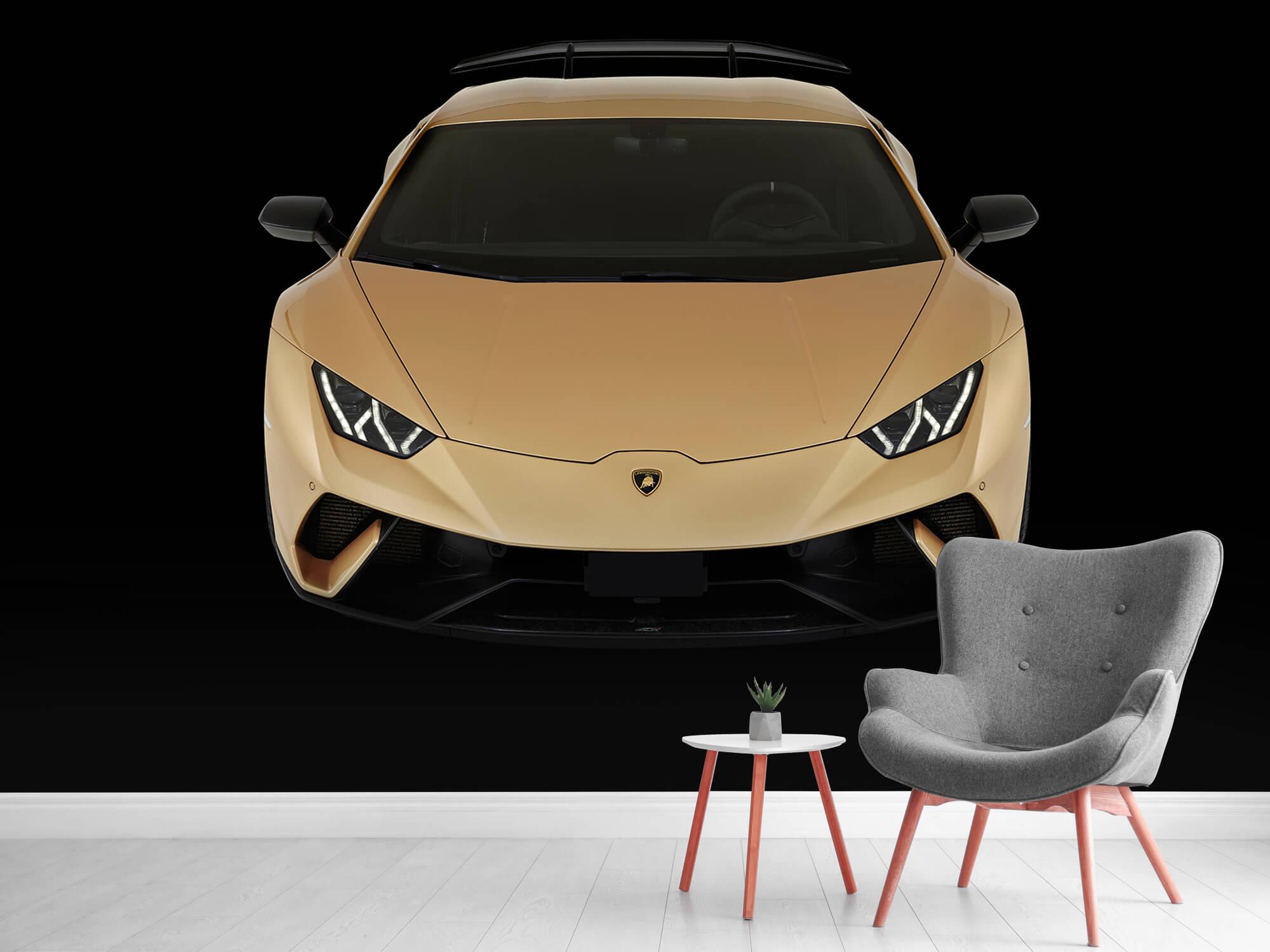 Wallpaper Lamborghini Huracán - Voorkant vanaf boven, zwart 10
