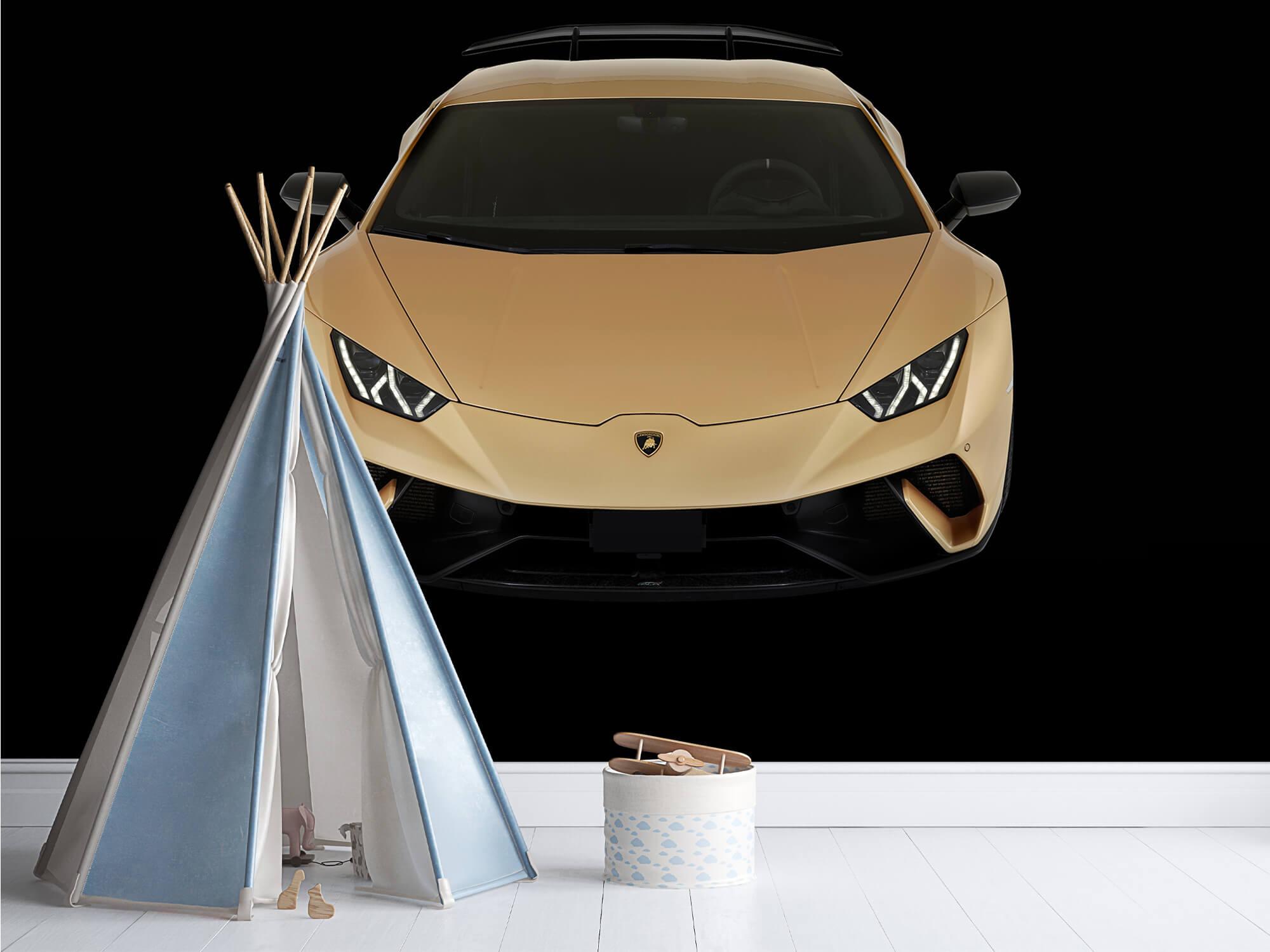 Wallpaper Lamborghini Huracán - Voorkant vanaf boven, zwart 1