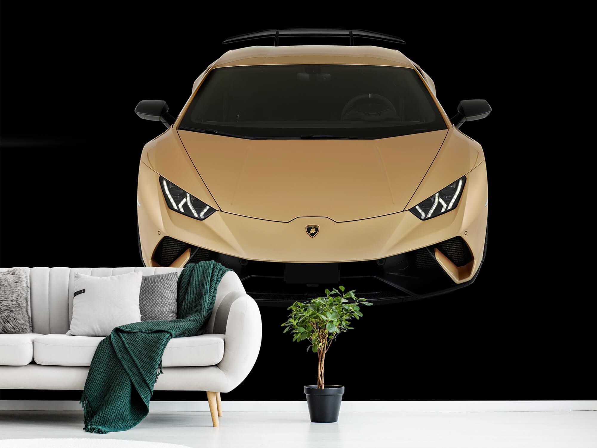 Wallpaper Lamborghini Huracán - Voorkant vanaf boven, zwart 11