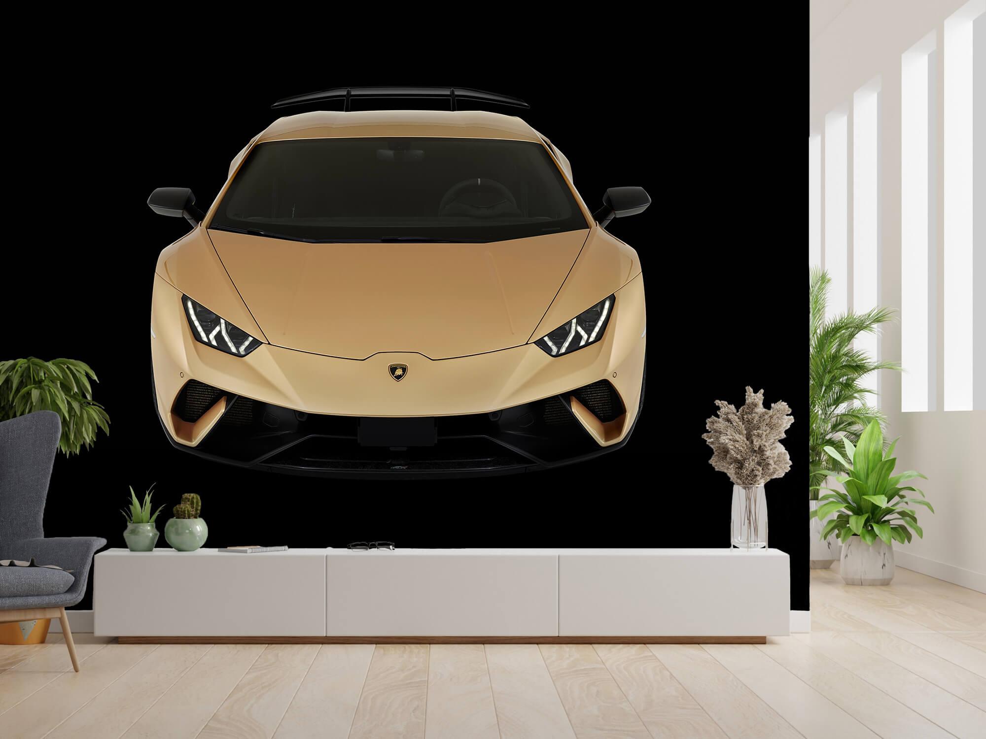 Wallpaper Lamborghini Huracán - Voorkant vanaf boven, zwart 14