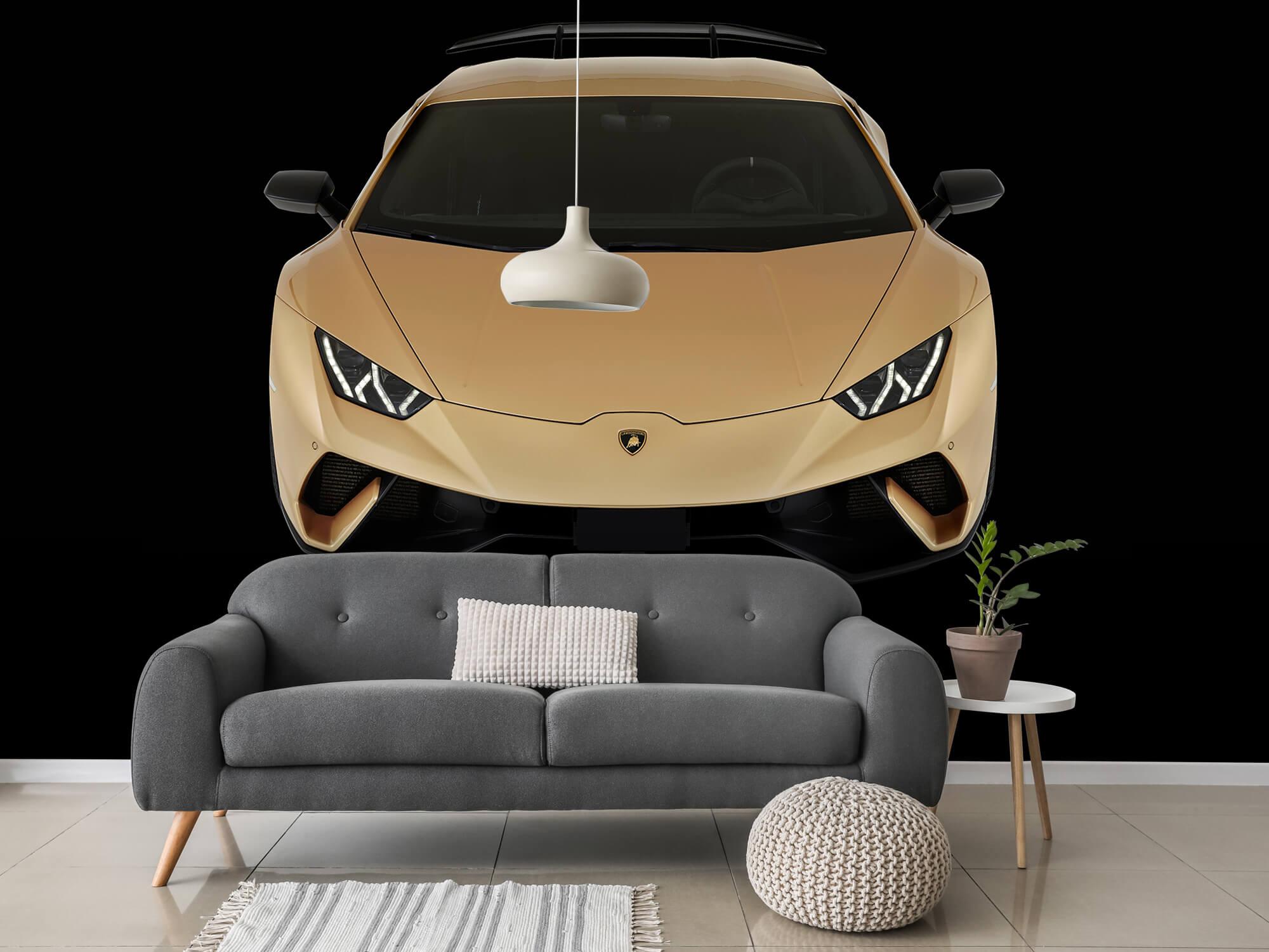 Wallpaper Lamborghini Huracán - Voorkant vanaf boven, zwart 3