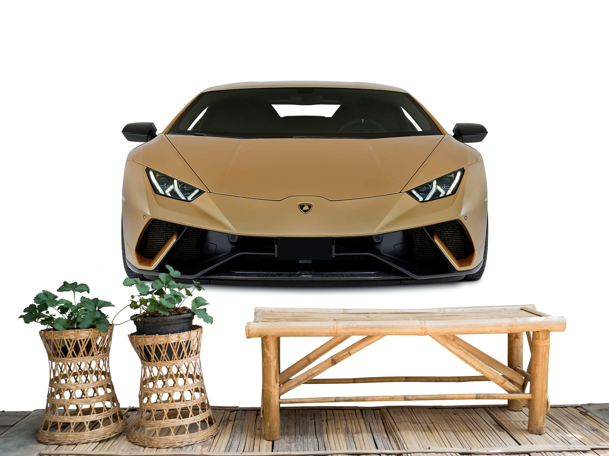 Wallpaper Lamborghini Huracán - Voorkant, wit 1