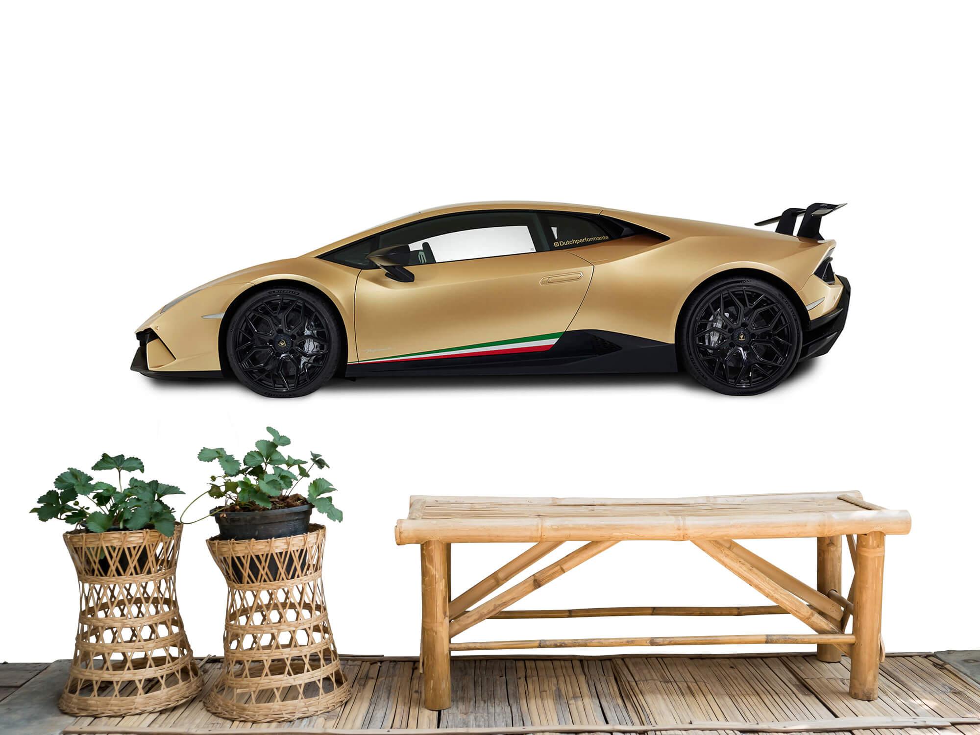 Wallpaper Lamborghini Huracán - Zijkant, wit 7
