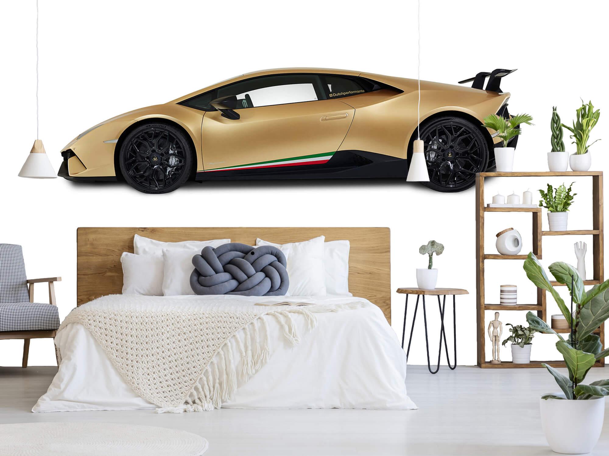 Wallpaper Lamborghini Huracán - Zijkant, wit 8