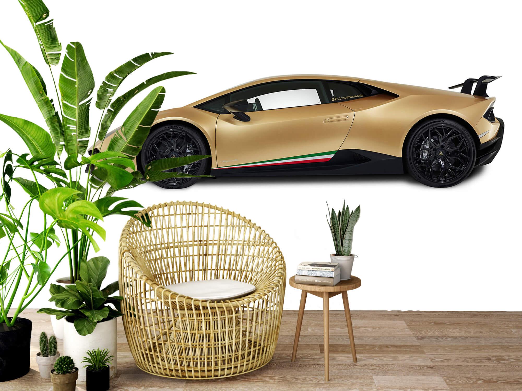 Wallpaper Lamborghini Huracán - Zijkant, wit 9