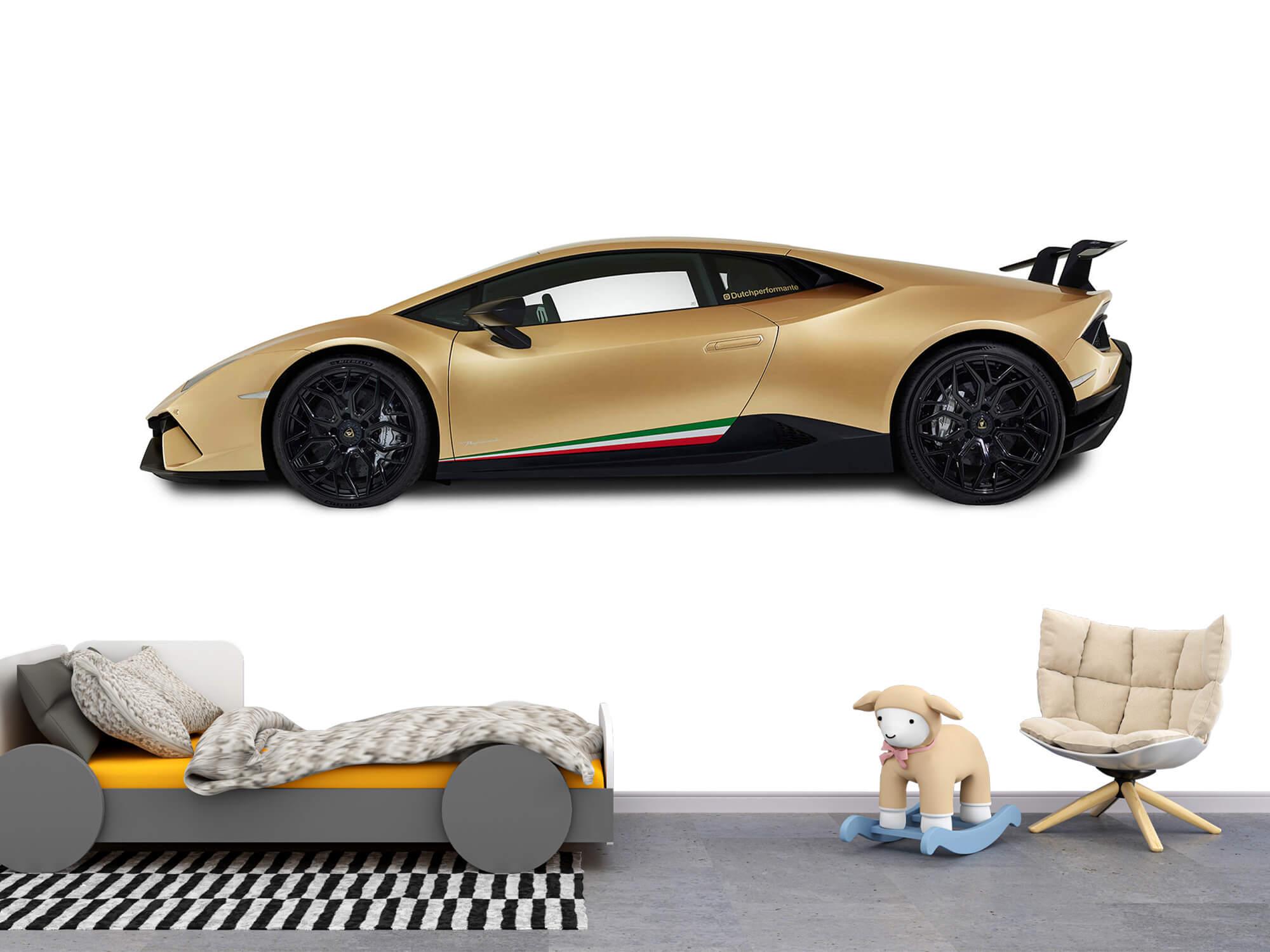 Wallpaper Lamborghini Huracán - Zijkant, wit 11