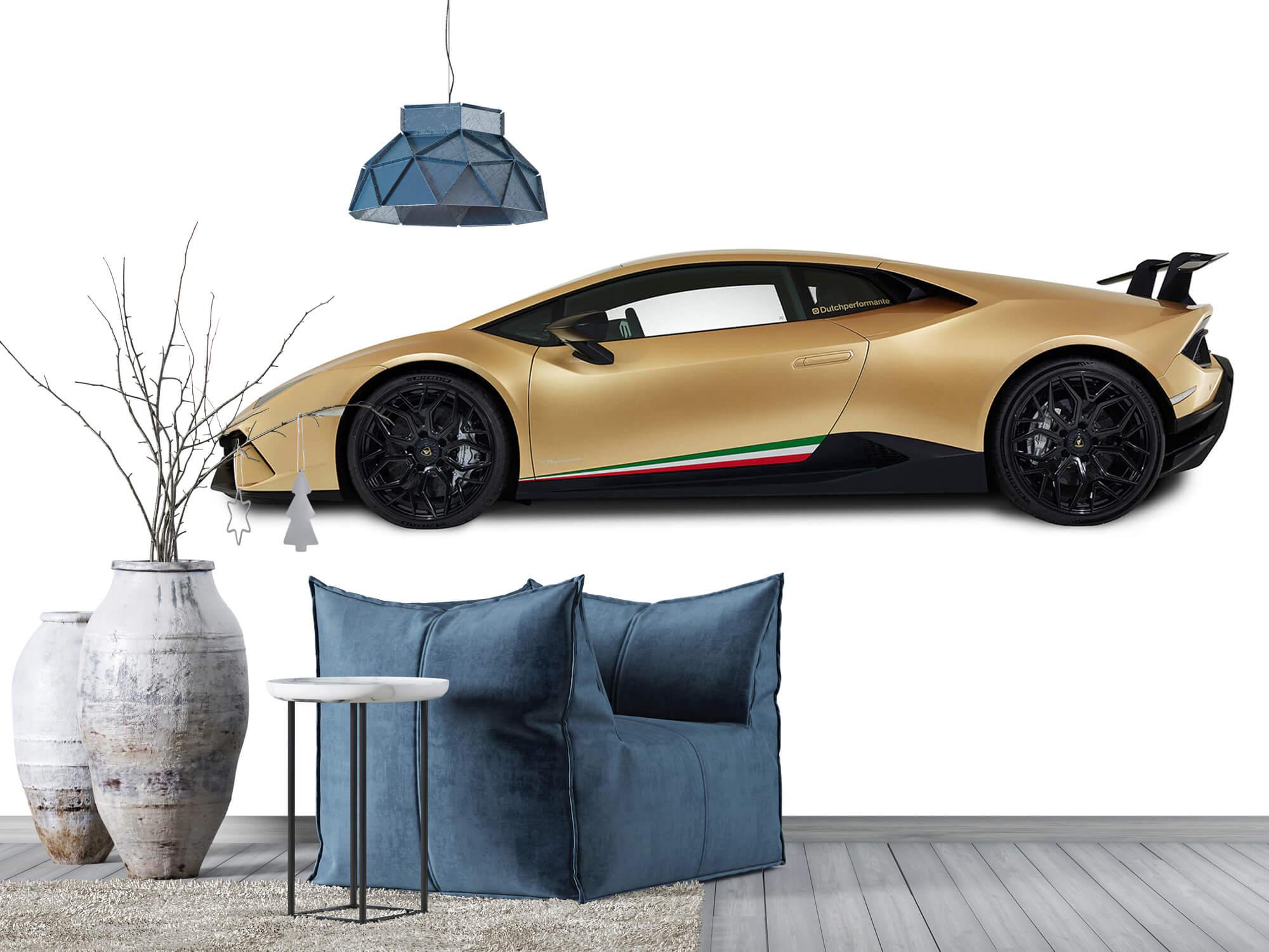 Wallpaper Lamborghini Huracán - Zijkant, wit 12