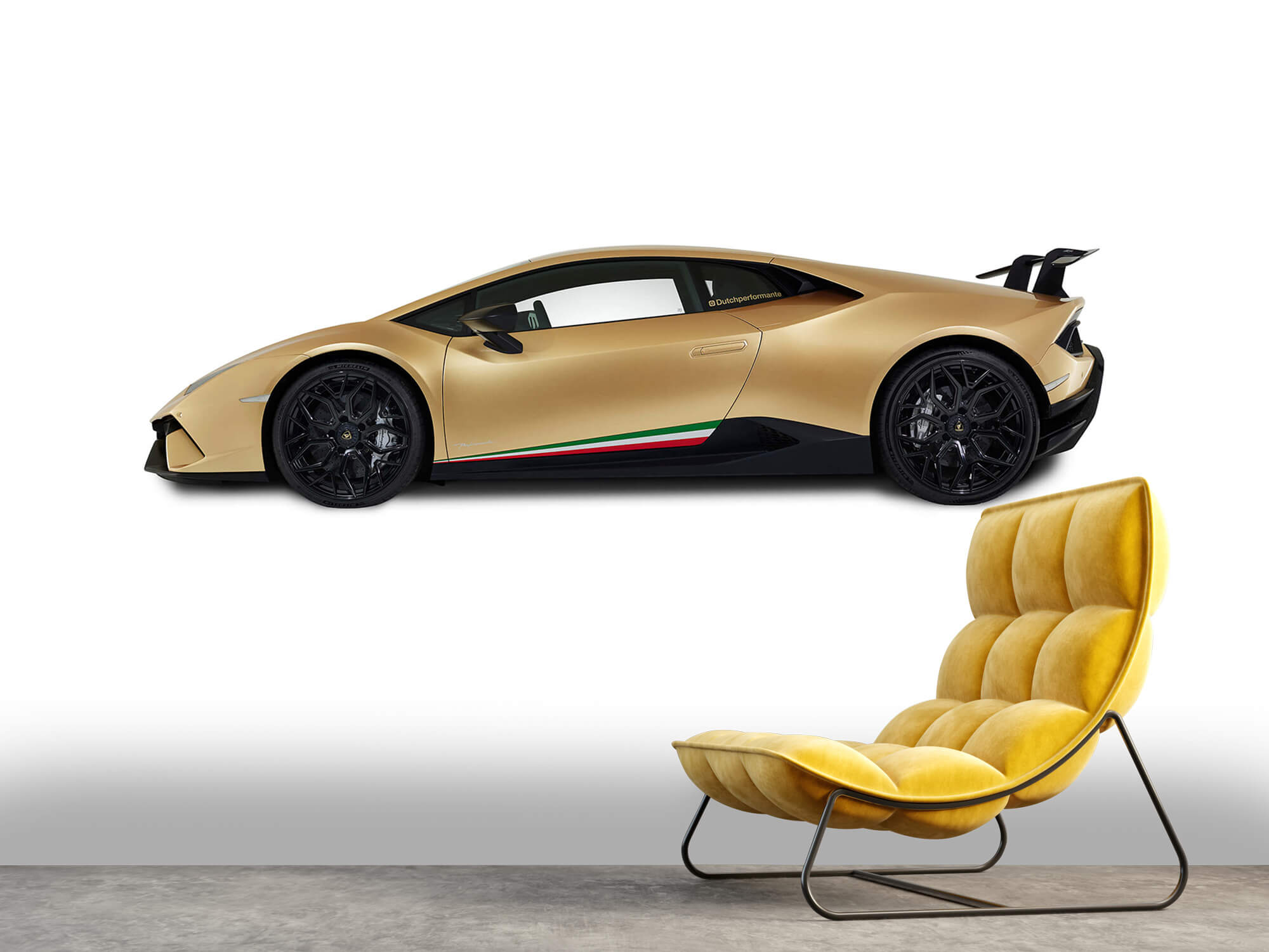 Wallpaper Lamborghini Huracán - Zijkant, wit 2