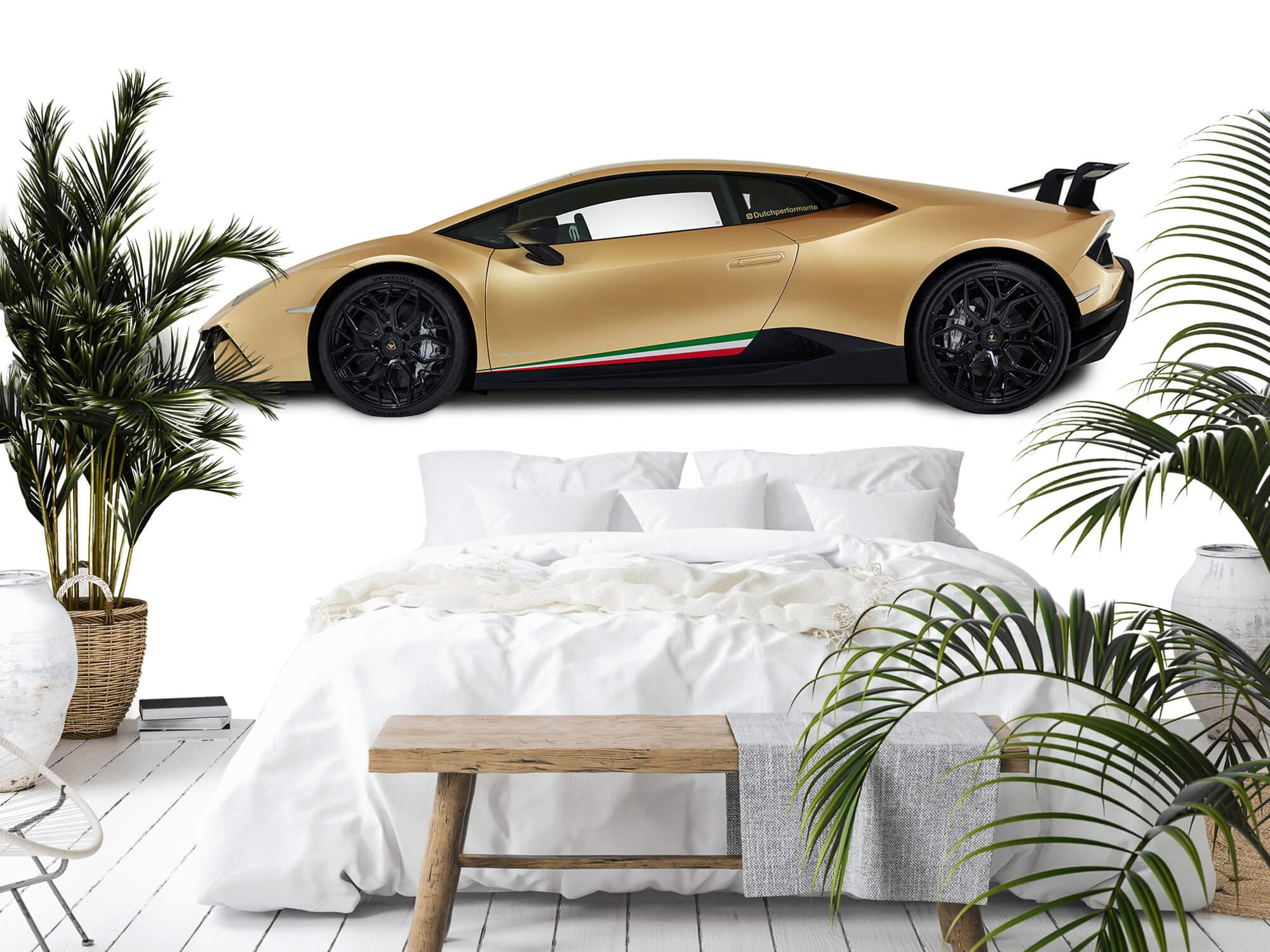 Wallpaper Lamborghini Huracán - Zijkant, wit 3