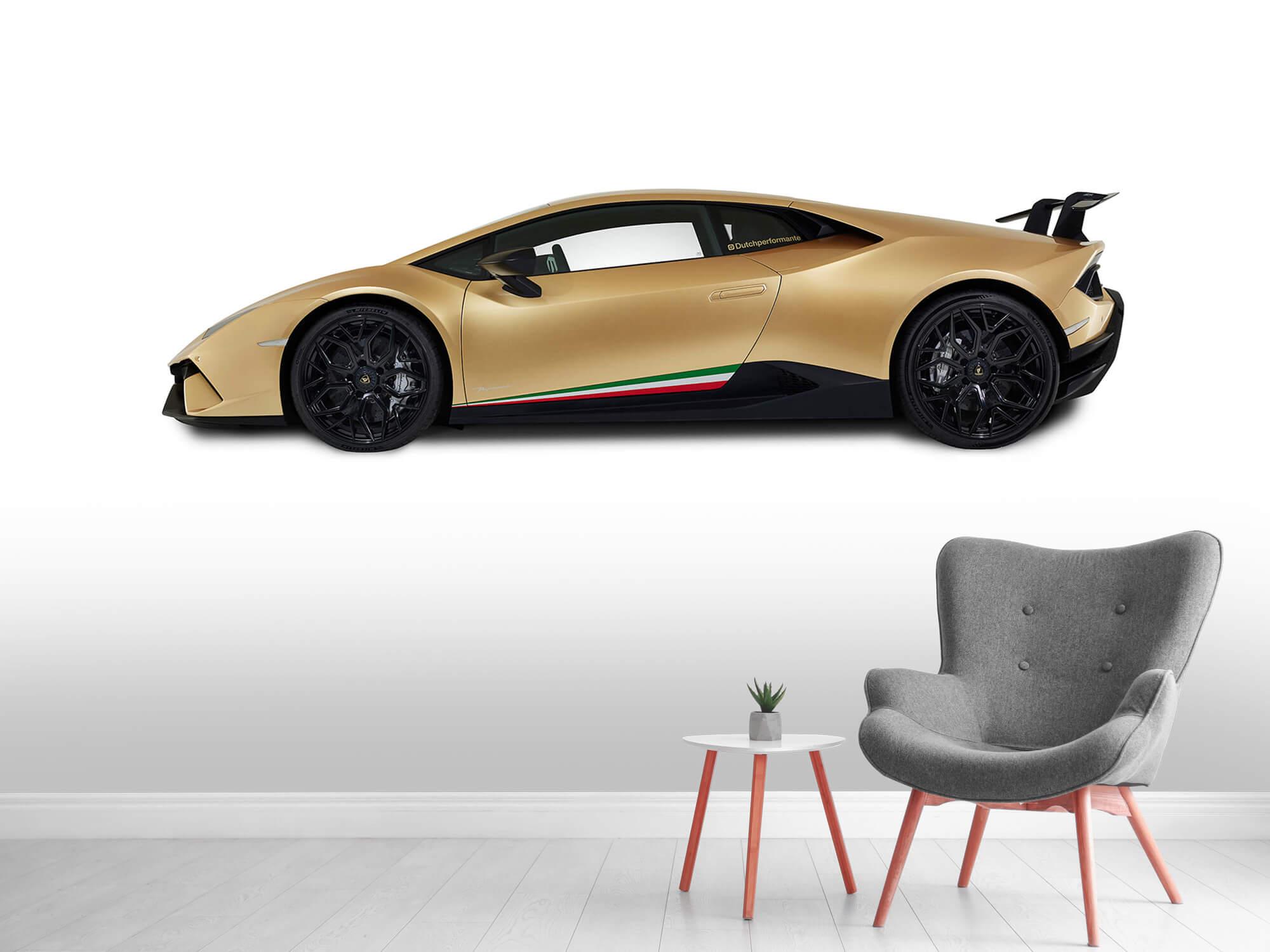 Wallpaper Lamborghini Huracán - Zijkant, wit 5