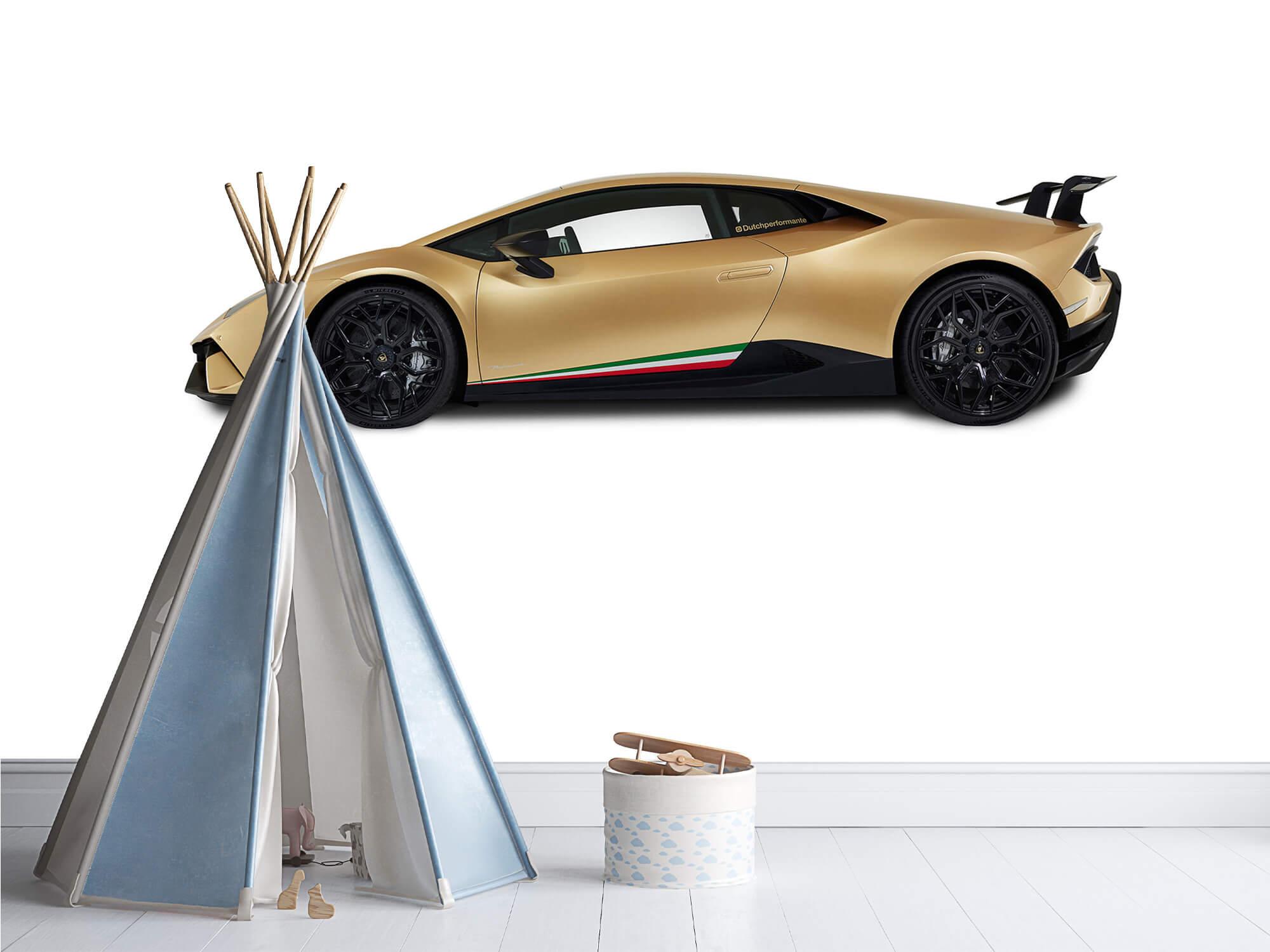 Wallpaper Lamborghini Huracán - Zijkant, wit 4