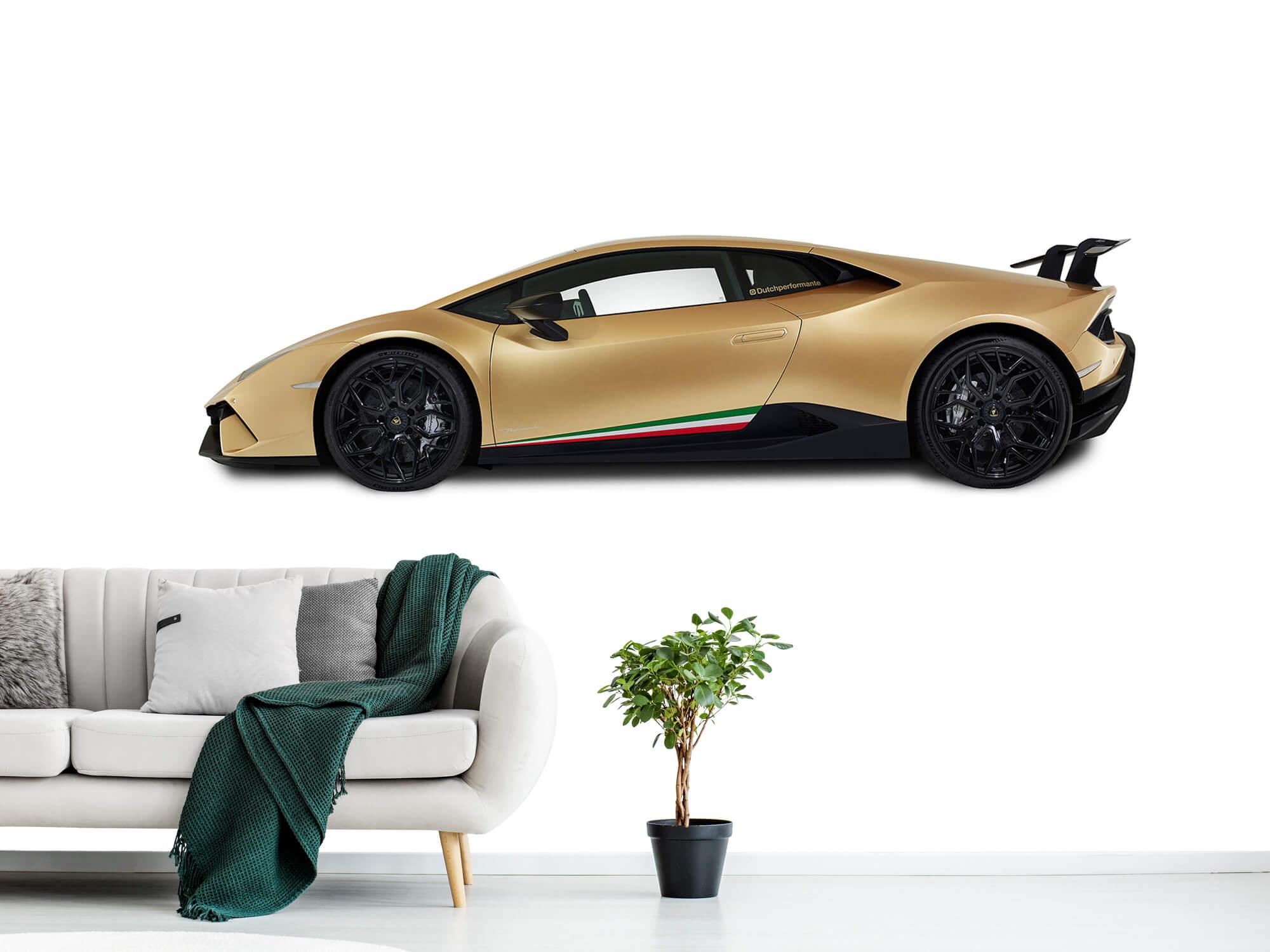 Wallpaper Lamborghini Huracán - Zijkant, wit 1
