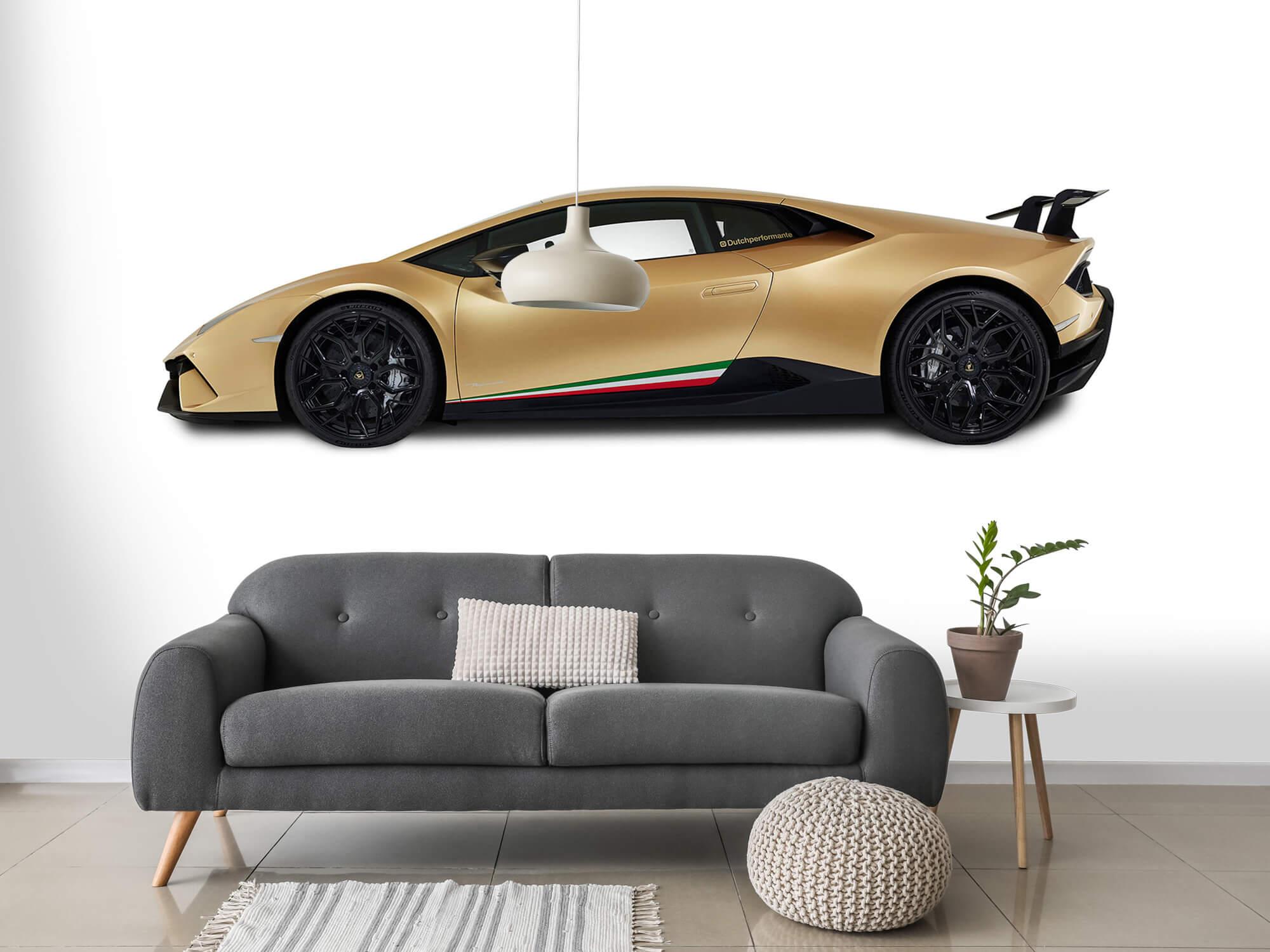 Wallpaper Lamborghini Huracán - Zijkant, wit 15