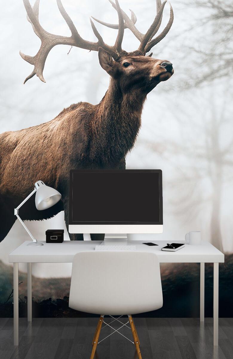 dieren Hert in de mist 2