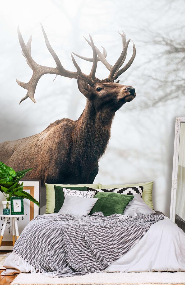 dieren Hert in de mist 1
