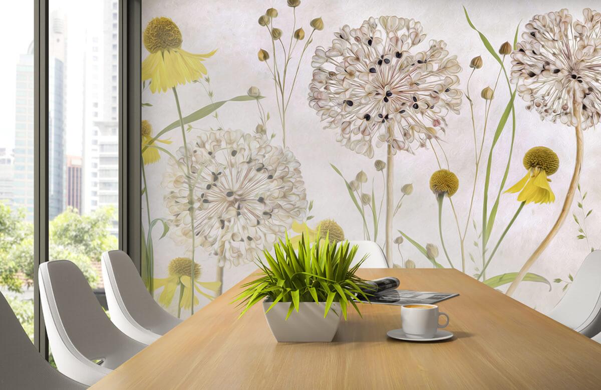Stilleven Alliums and heleniums 5