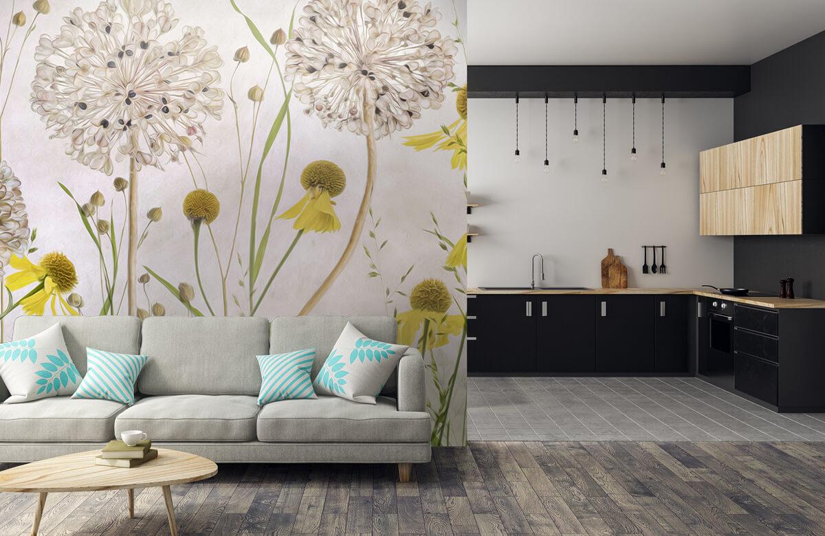 Stilleven Alliums and heleniums 8