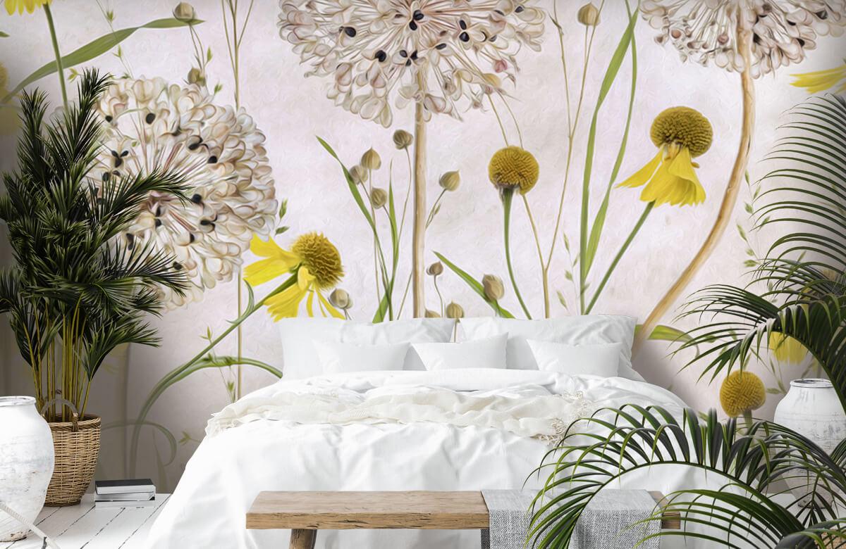 Stilleven Alliums and heleniums 3