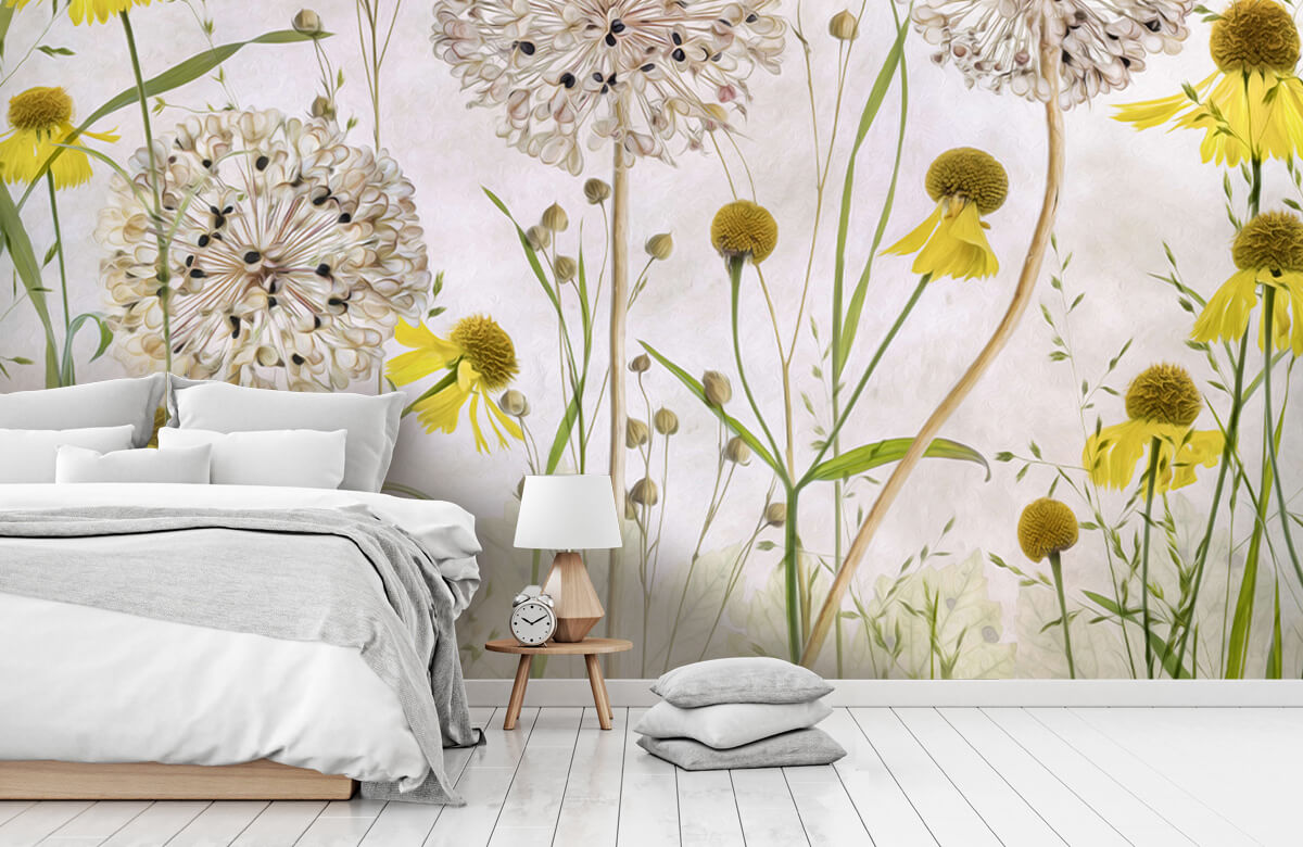 Stilleven Alliums and heleniums 10