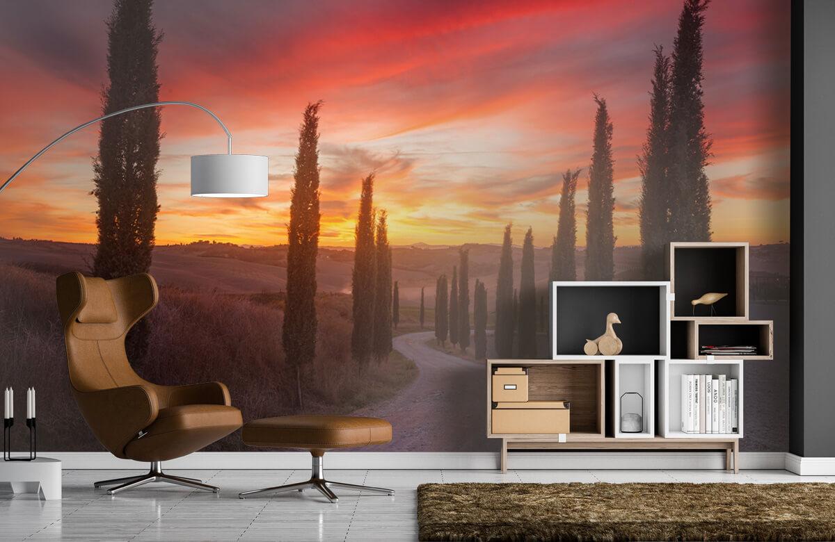 Landscape Tuscany sunset 1