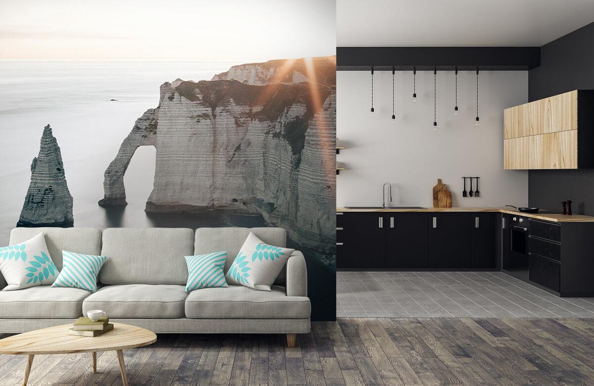 Wallpaper Ochtend zon aan de kust 9