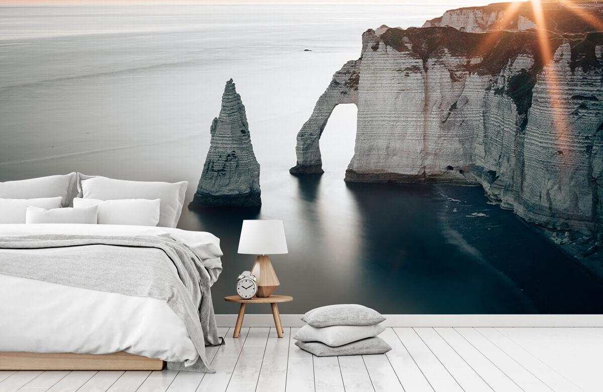Wallpaper Ochtend zon aan de kust 7