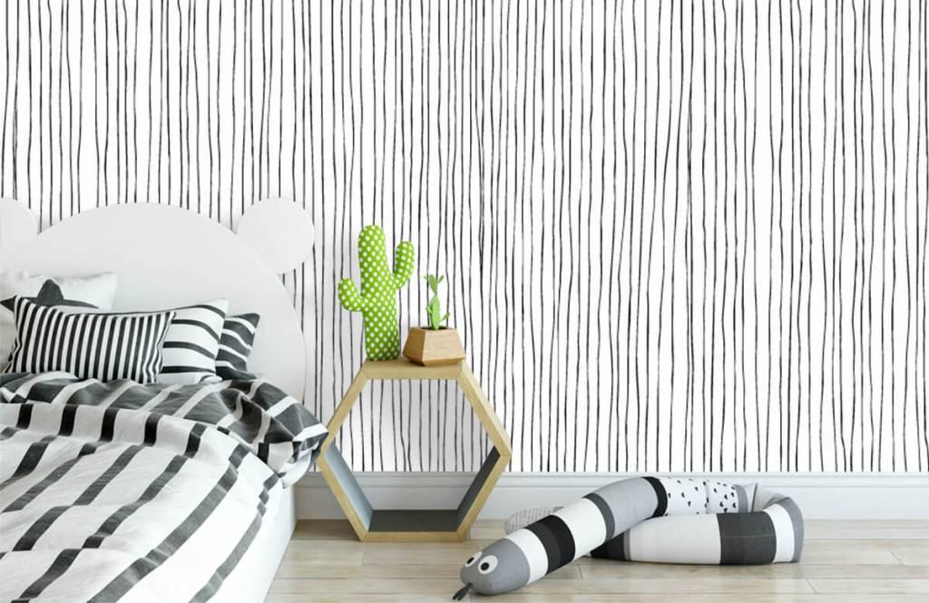 Abstract - Abstracte lijnen in zwart/wit - Magazijn 2