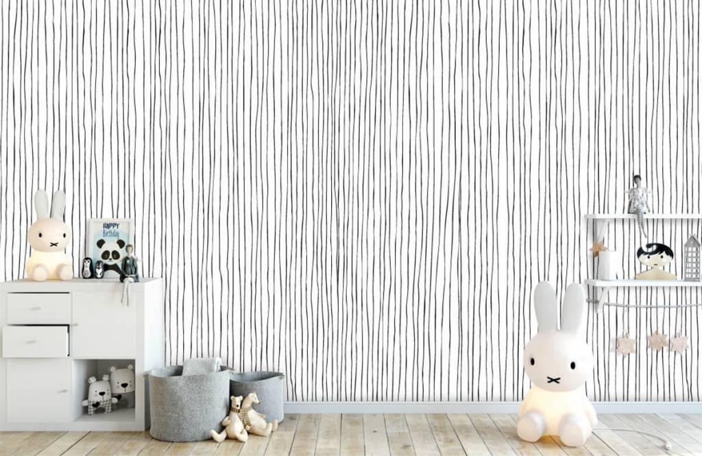 Abstract - Abstracte lijnen in zwart/wit - Magazijn 4